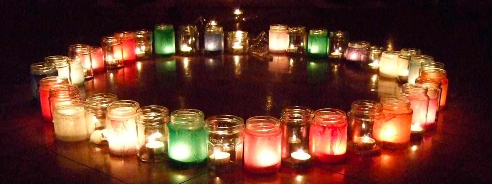 Circle of candles